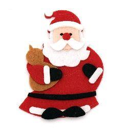 Дядо Коледа филц 100x70 мм -2 броя