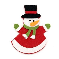 Snowman Felt Embellishment, 100x76mm 2pcs