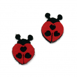 Felt Embellishment DIY Scrapbooking Ladybug felt 27x40 mm -10 pieces