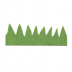 Трева филц 100x33x1 мм -10 броя