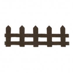 Ограда филц 35x95x1 мм кафява -10 броя