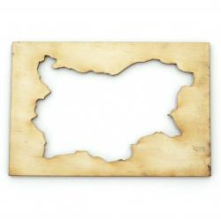 Figurină din lemn pentru decorare hartă cadru Bulgaria 60x90x3 mm -2 bucăți
