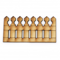 Дървена ограда за декорация 60x115 мм -2 броя
