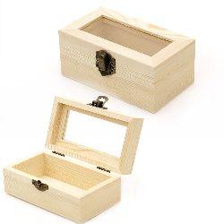 Cutie din lemn fereastră 124x74x50 mm