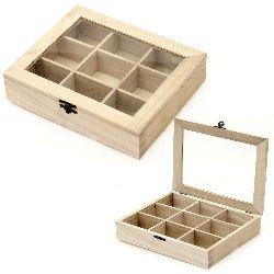 Cutie din lemn fereastră 220x180x50 mm 9 secțiuni