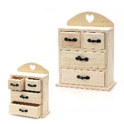 Скрин дървен 155x80x205 мм две големи две малки чекмеджета