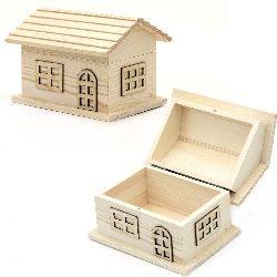 Cutie din lemn casă de bijuterii 160x135x120 mm