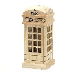 Cutie telefonica din lemn 100x100x220 mm PUSCULITA