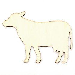 Figura din lemn 110x80x2 mm vacă pentru culoare - 5 bucăți