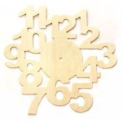 Baza din lemn pentru ceas 290x280 mm numere alb