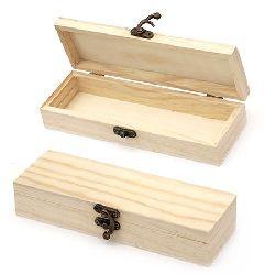 Кутия дървена 210x70x40 мм тъмна закопчалка