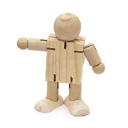 Om din lemn 110x40x110 mm puzzle