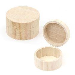 Кутия дървена 115x7 мм кръгла