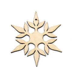 Wooden pendant for decoration 100x100 mm №LK05