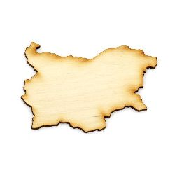 Wooden figurine for decoration map of Bulgaria 70x50x3 mm
