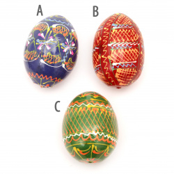Easter Egg Wooden 64x46 mm ASSORTED