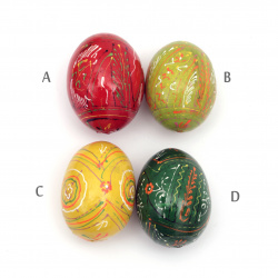 Wooden Egg Easter 64x48 mm ASSORTED