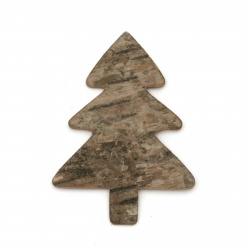 Christmas Wooden figures Fir tree 54x80 mm - 4 pieces