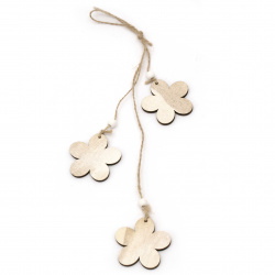Decoration tree hanging 38 cm flowers 58x4 mm natural -1 piece