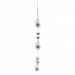 Christmas decoration 53 cm tree snowman 5x8x0.5 cm 3 pieces two colors -1 piece