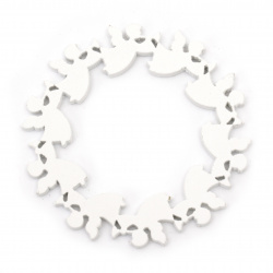 Arborele de coroana 10x0,5 cm îngeri alb -1 buc