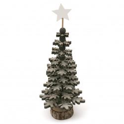 Фигурка дърво настолна КОЛЕДНА ЕЛХА 10x27x0.5 мм сива -1 брой