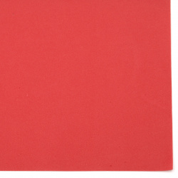 Фоамиран /микропореста гума/ 0.8~0.9 мм 50x50 см цвят червен