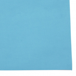 EVA foam for decoration of invitations, notebooks, boxes 0.8 ~ 0.9 mm 50x50 cm color blue light