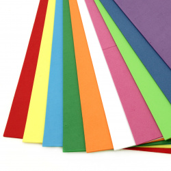Decorative EVA foam for scrapbook projects & craft ideas 5 mm 50x70 cm mixed colors - 1 sheet