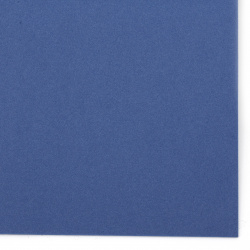 Blue EVA foam A4 sheet 20x30 cm for  for embellishment of notebooks, frames, albums 2 mm blue