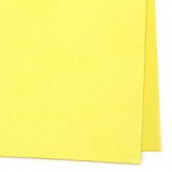 Bright EVA foam A4 sheet 20x30 cm yellow with glitter rainbow for scrapbook projects & handmade decoration 2 mm