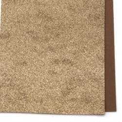 Material EVA / cauciuc microporos / 2 mm A4 20x30 cm cu brocart maron
