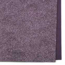 Purple decorative EVA foam A4 sheet 20x30 cm with glitter for scrapbook projects & art hobby crafts 2 mm