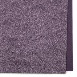 EVA материал /микропореста гума/ 2 мм А4 20x30 см с брокат лилав