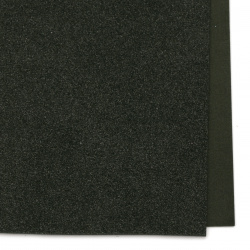 Decorative EVA foam A4 sheet 20x30 cm, black color with glitter for scrapbook projects & craft ideas 2 mm