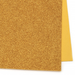 EVA foam A4 sheet 20x30 cm, dark gold with glitter for scrapbook projects & craft decoration 2 mm