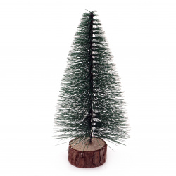 Christmas Decoration Fir tree on stand 150x78 mm green