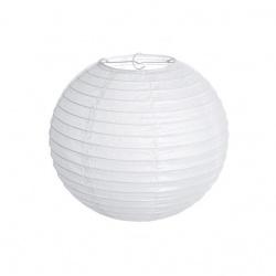Хартиен фенер 20 см цвят бял