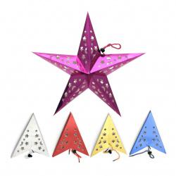 Χριστουγεννιάτικο στολίδι αστέρι 30 cm χαρτόνι Ποικιλία χρωμάτων