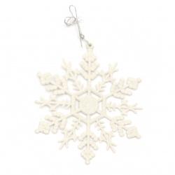 Χριστουγεννιάτικο κρεμαστό στολίδι χιονονιφάδα 110x130x2 mm -3 τεμάχια
