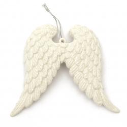 Φτερά αγγέλου 115x100x4 mm κρεμαστό στολίδι με χρυσόσκονη -2 τεμάχια