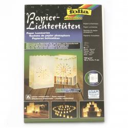 Lanternă de hârtie FOLIA 19x11,5x7 cm -5 bucăți