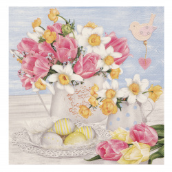 Napkin for Decoupage Decoration 33x33 cm three-layer Maki-1 piece