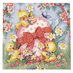 Napkin for Decoupage Decoration 33x33 cm three-layer Daisy-1 piece