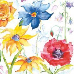 χαρτοπετσέτα 33x33 εκ. Τριών στρωμάτων λουλούδια -1 τεμάχιο