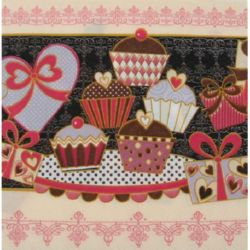 Napkin for Decoupage Decoration, 3-ply, 33x33 cm, 1 piece