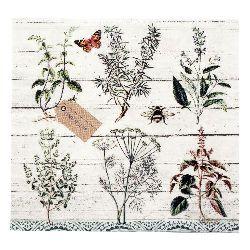 Салфетка HOME FASHION 33x33 см трипластова Floral Study -1 брой