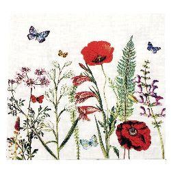 Салфетка HOME FASHION 33x33 см трипластова Meadow in Bloom -1 брой