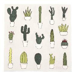 Салфетка HOME FASHION 33x33 см трипластова Little Cactus -1 брой
