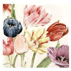 Салфетка HOME FASHION 33x33 см трипластова Amsterdam Tulips -1 брой